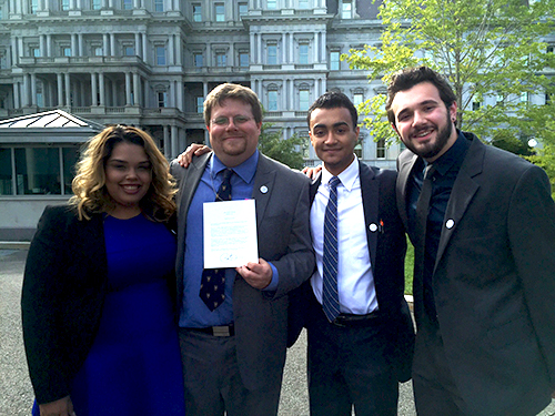 WPSC students and GM Rob Quicke in Washington DC 2015